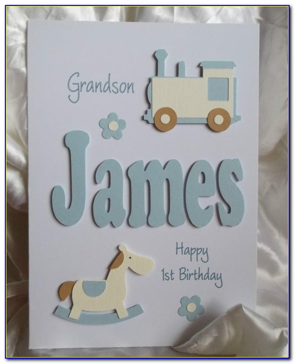 Personalised First Birthday Card Granddaughter