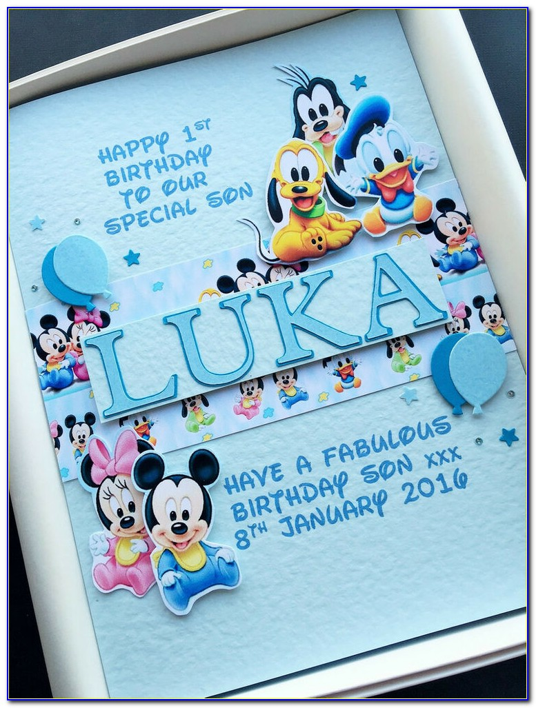 Personalised First Birthday Card Son