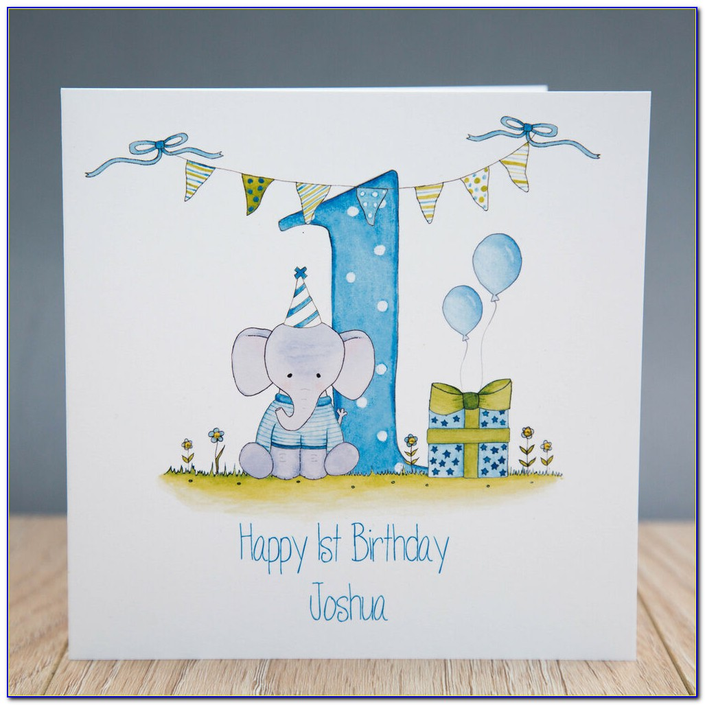 Personalised First Birthday Cards Uk