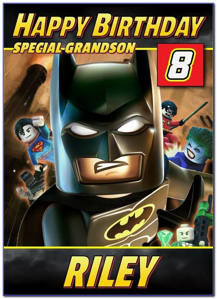 Personalised Lego Batman Birthday Card