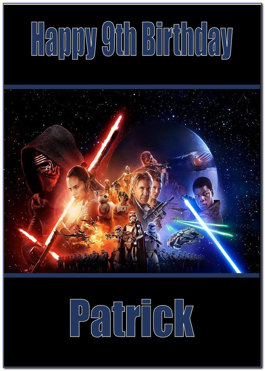 Personalised Lego Star Wars Birthday Cards