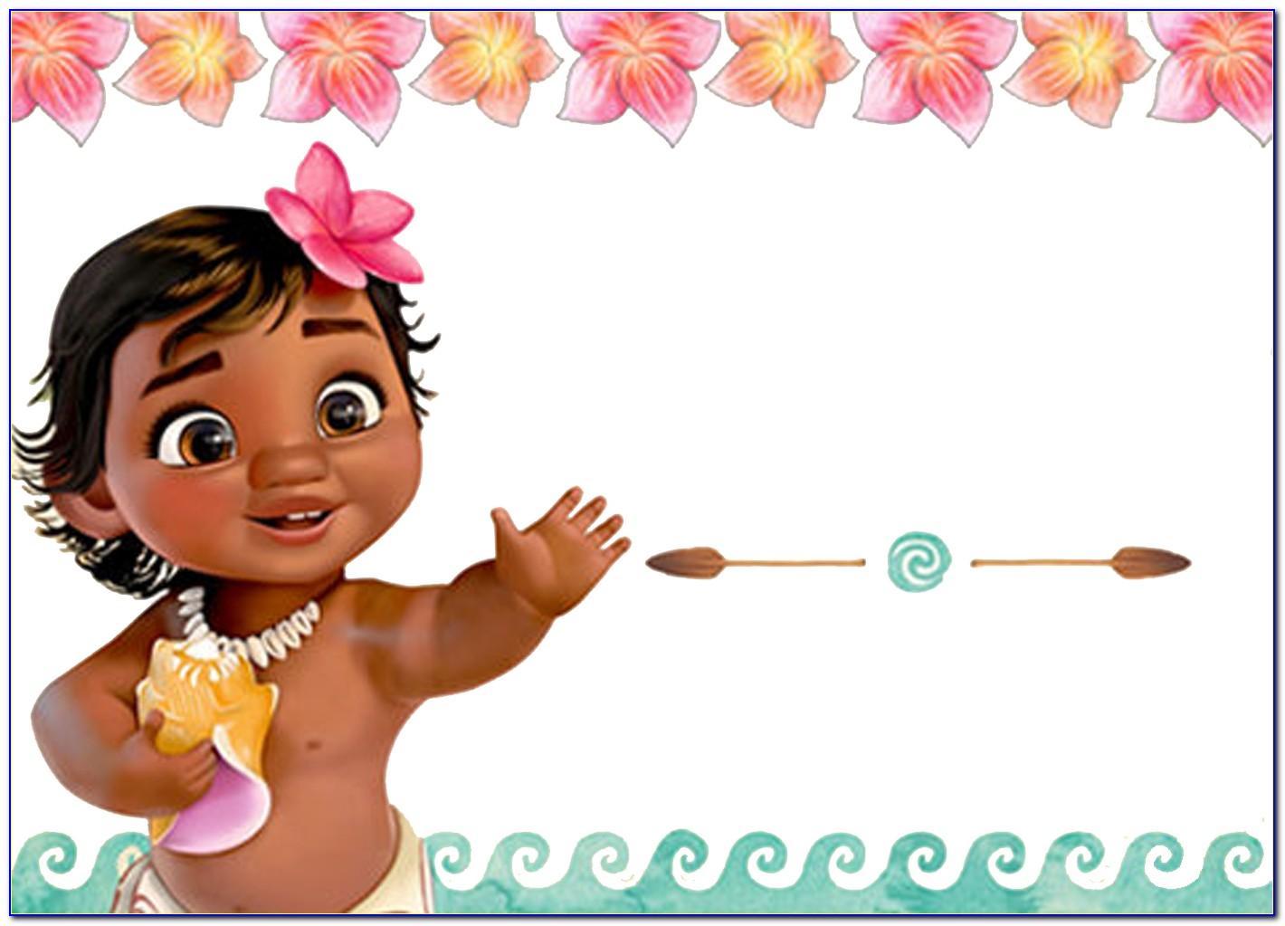 Personalised Moana Birthday Card