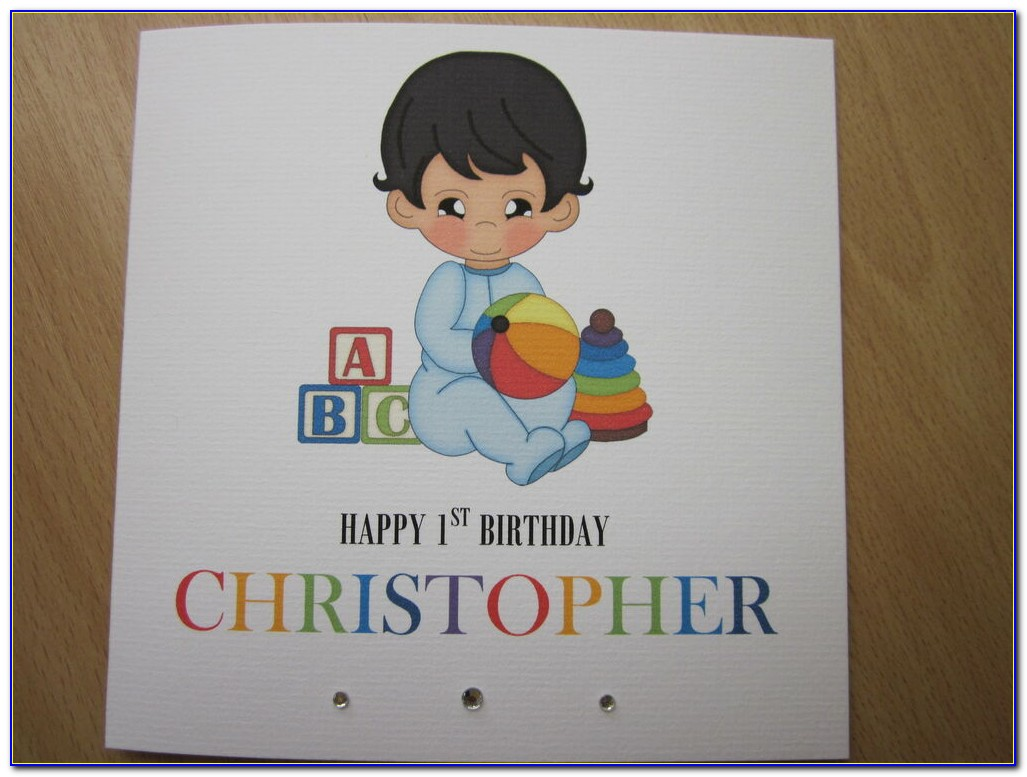 Personalised Nephew First Birthday Card