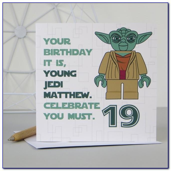Personalised Star Wars Birthday Cards