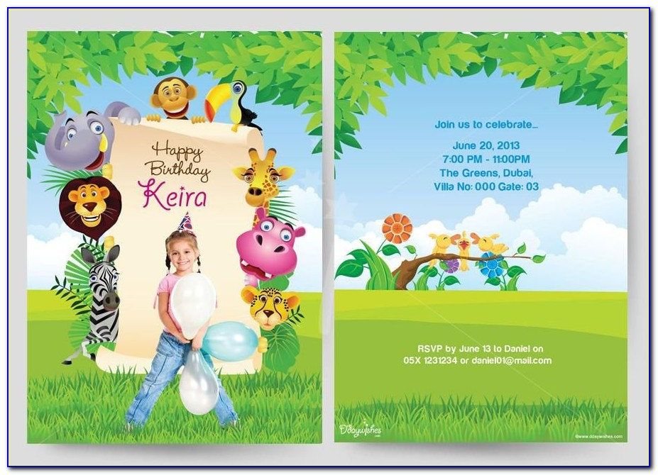 Personalized Birthday Invitation Cards Free