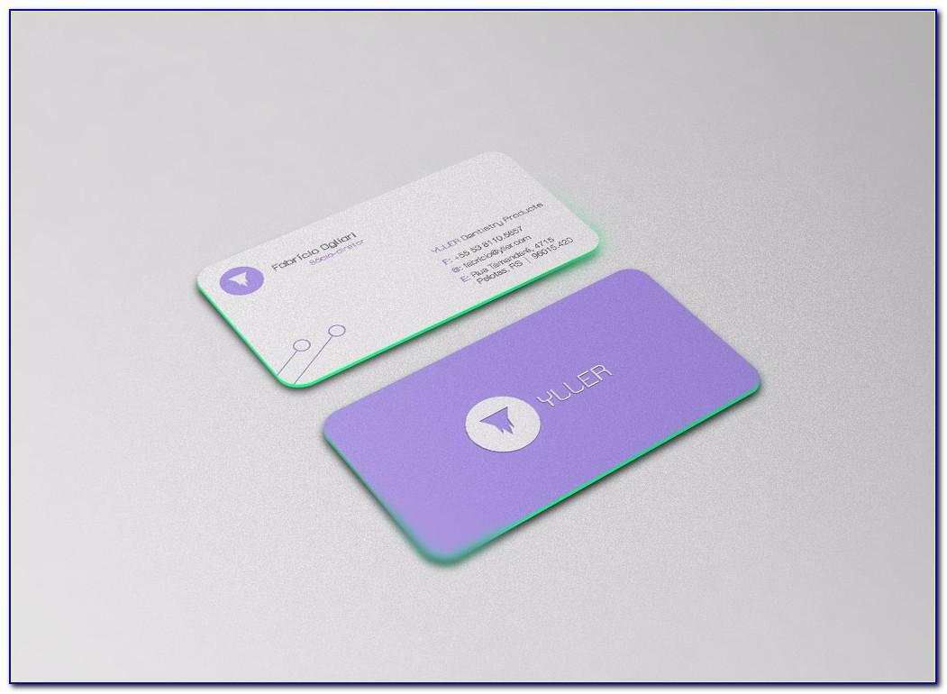 Photorealistic Business Card Mockup Round Corners