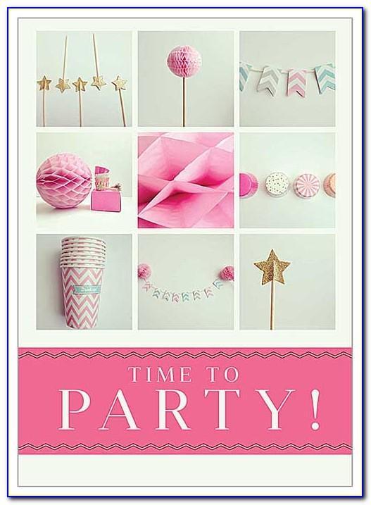 Pics Birthday Invitation Card