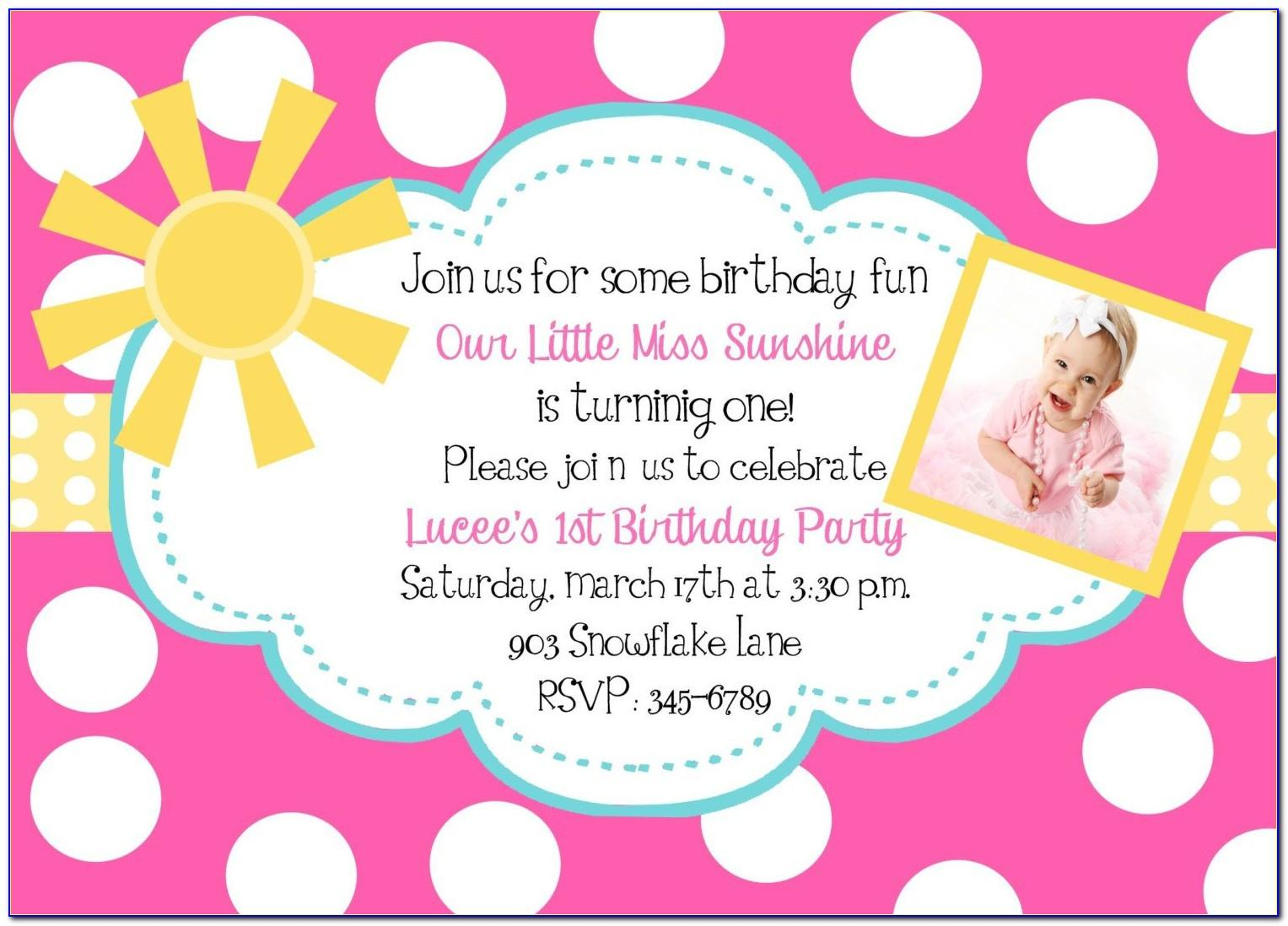 Pictures Birthday Invitation Cards