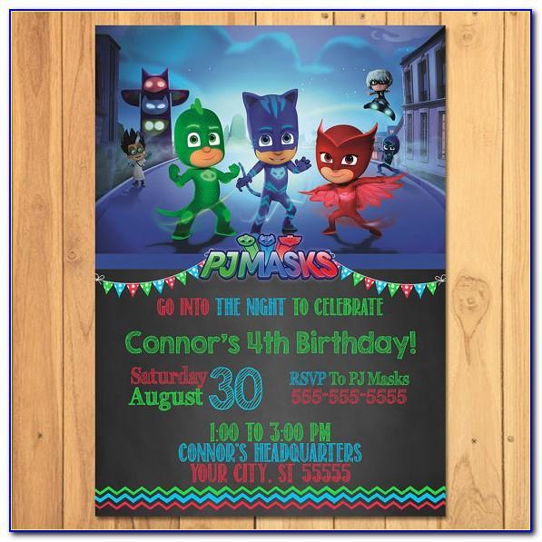 Pj Masks Birthday Card Australia