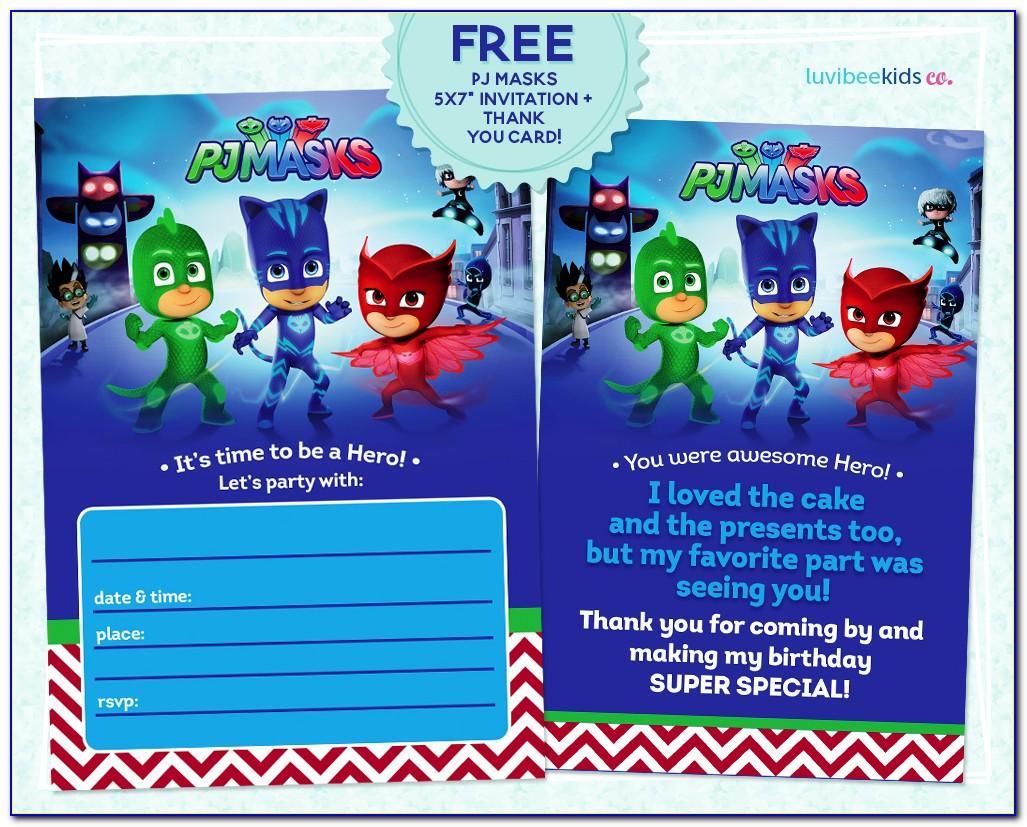 Pj Masks Birthday Card Free