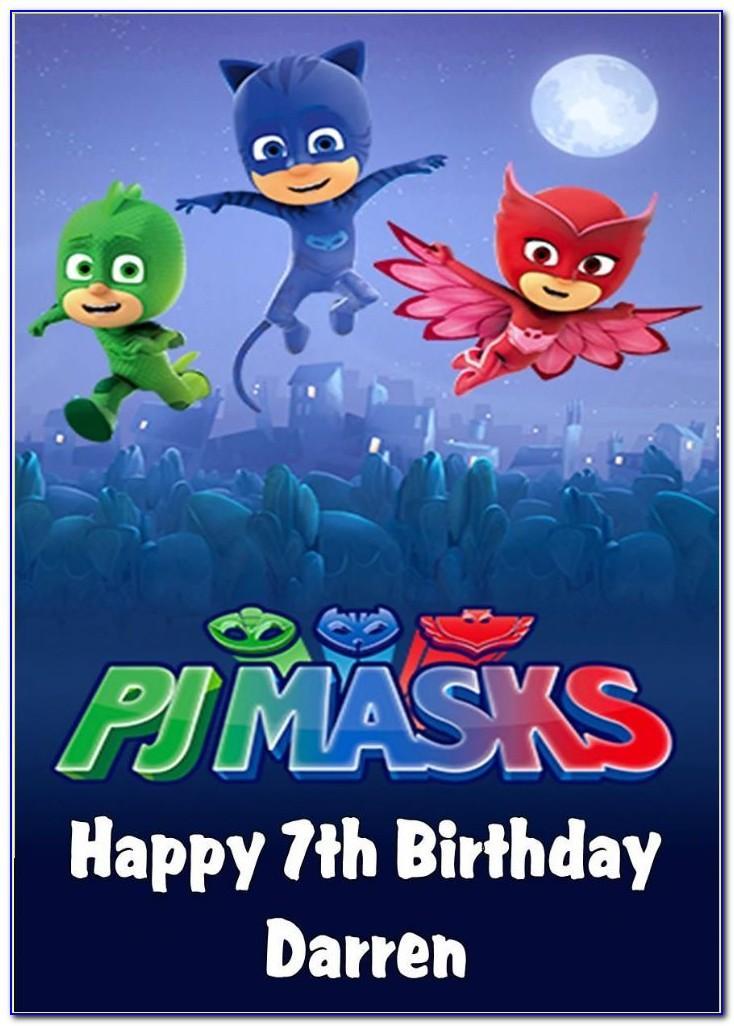 Pj Masks Birthday Card Moonpig