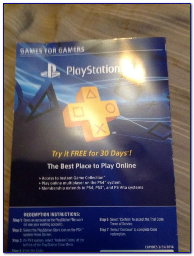 Playstation Plus Free Trial Credit Card