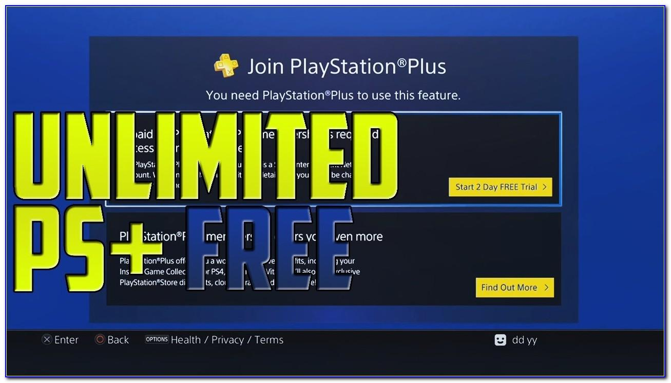 Playstation Plus Free Trial Without Credit Card Ps4