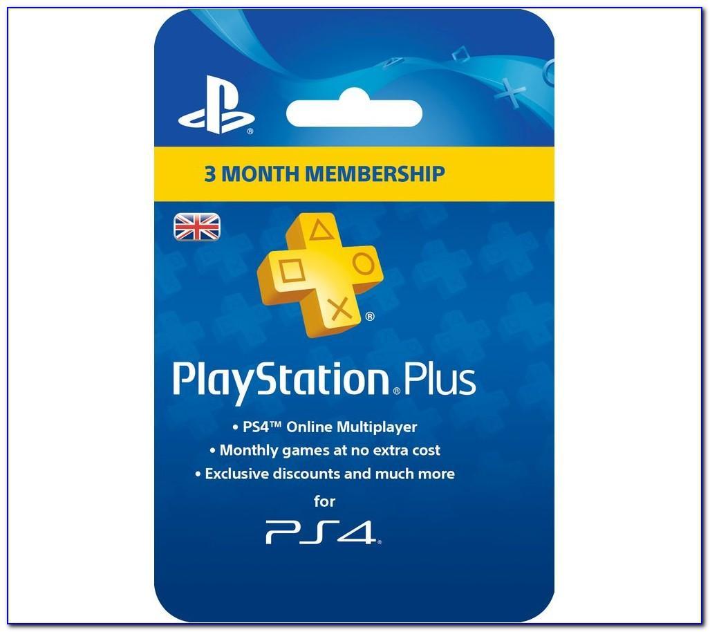Playstation Plus Membership Card Free