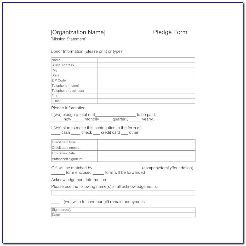 Pledge Card Template Mac