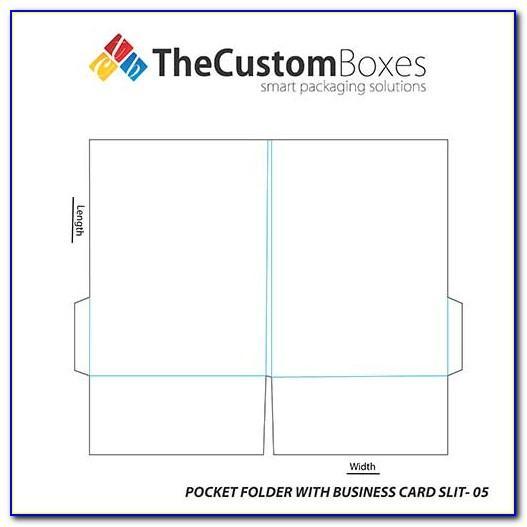 Pocket Folder Business Card Slits