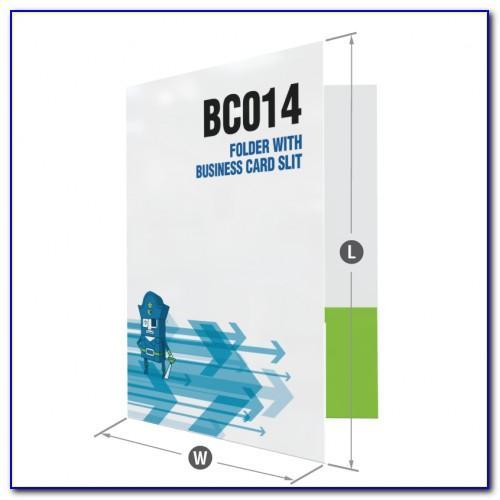 Pocket Folder Template With Business Card Slits