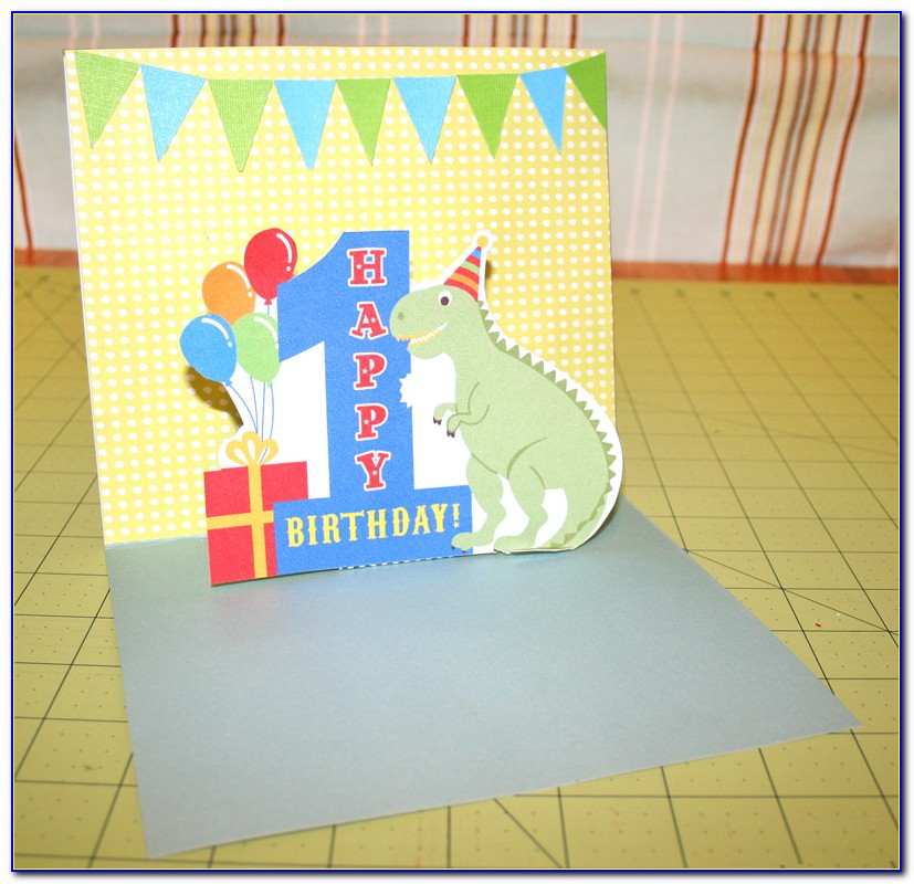 Pop Up 1st Birthday Card