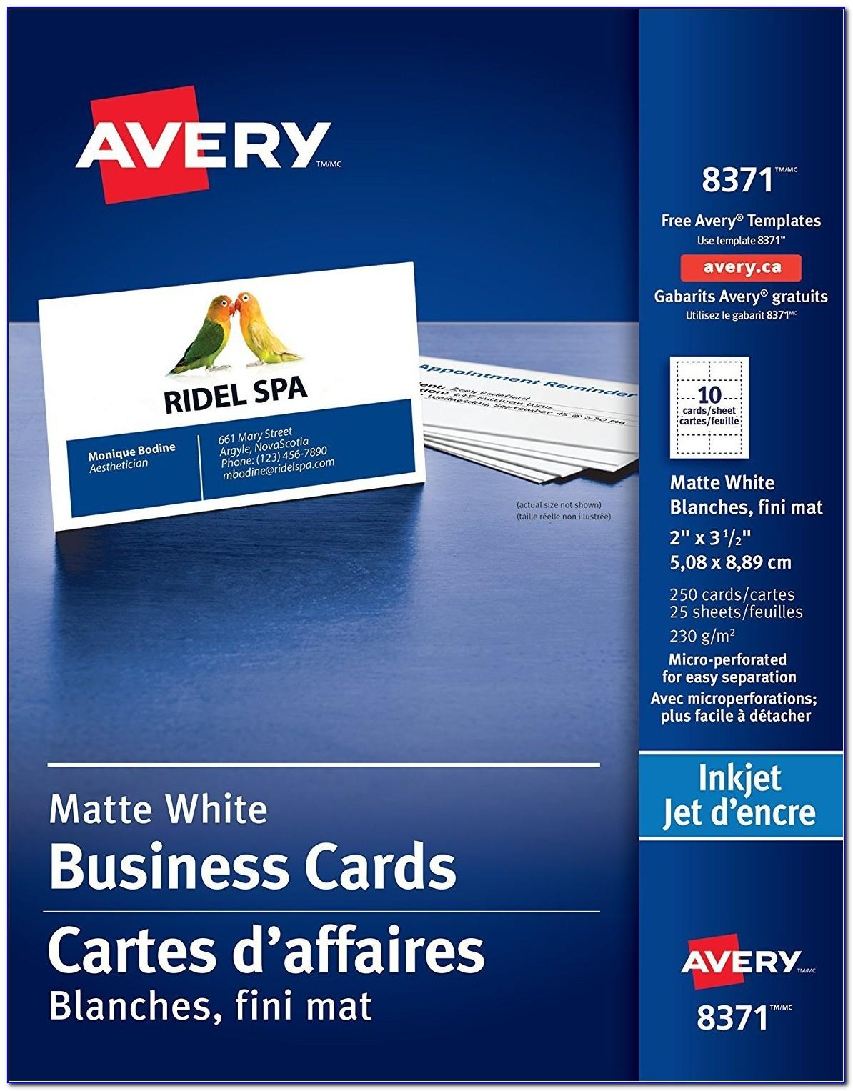 Print Avery Business Cards In Word