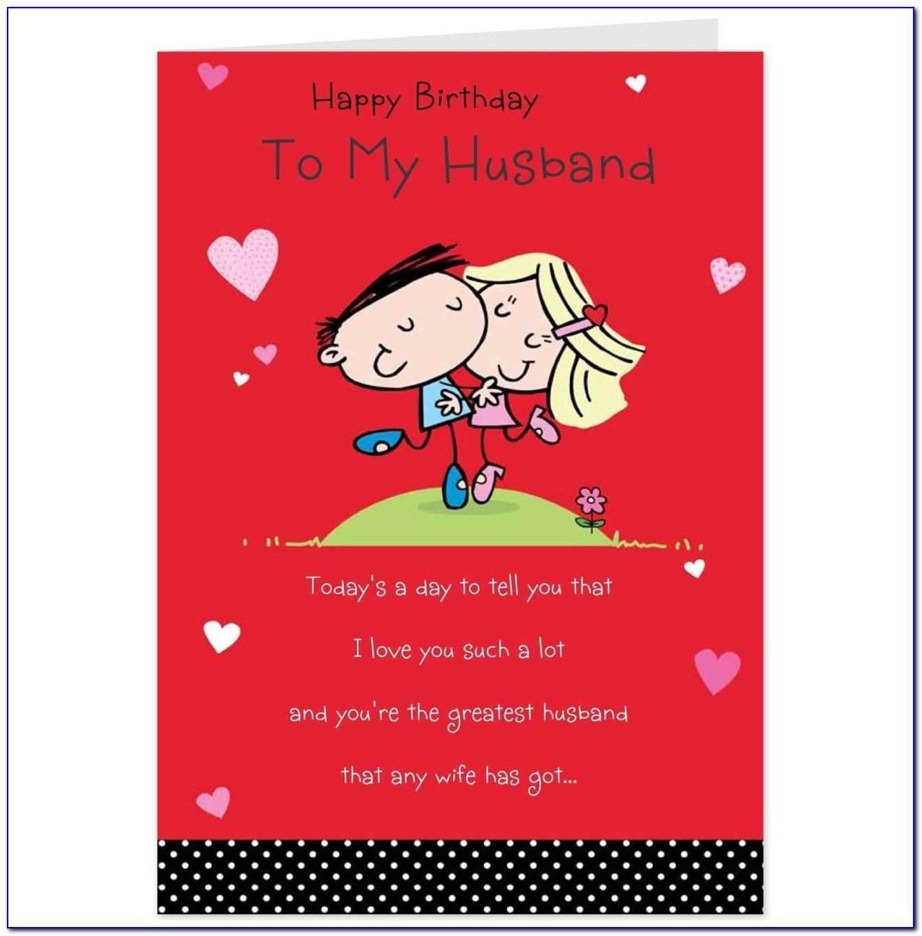 Printable Birthday Card For Husband