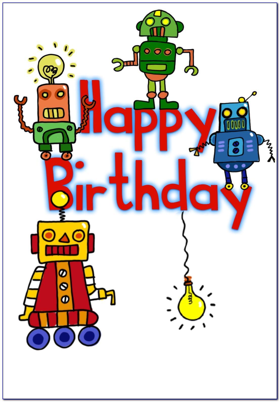 Printable Birthday Card For Kid