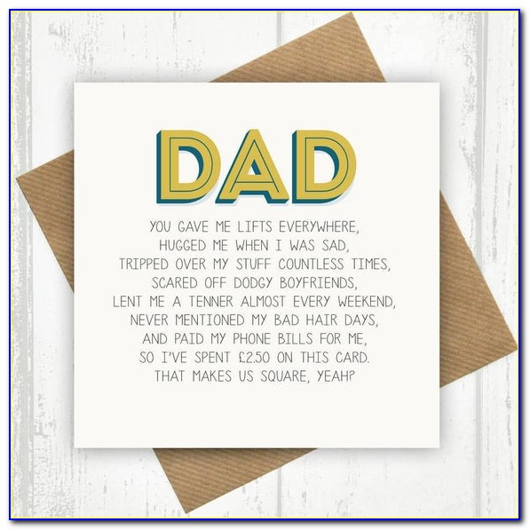 Printable Birthday Cards For Dad From Son