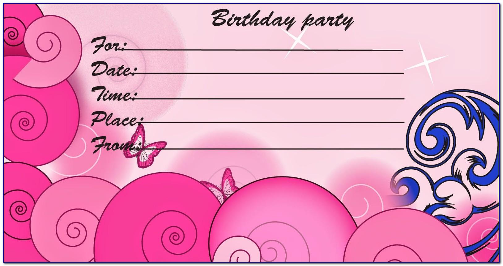 Printable Birthday Invitation Cards For Adults
