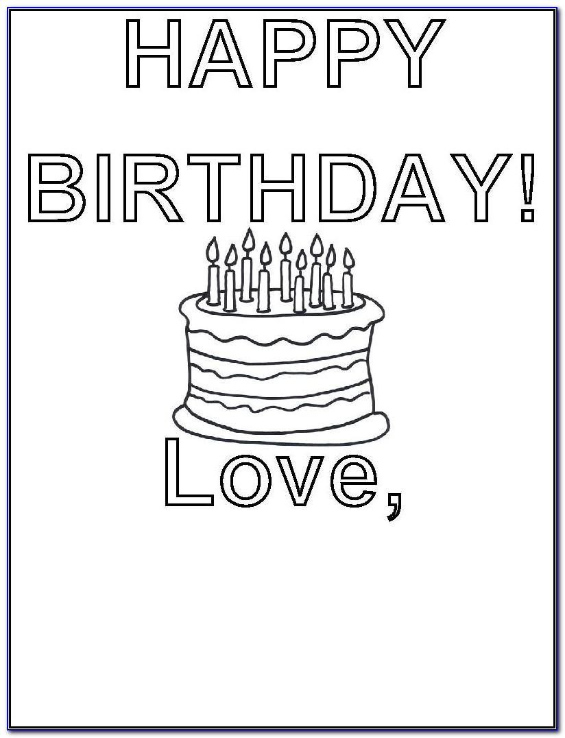Printable Black And White Happy Birthday Cards