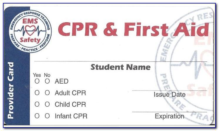 Printable Cpr Card Free