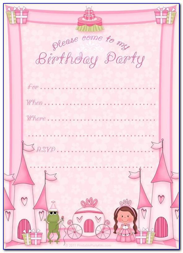 Printable Disney Princess Birthday Cards