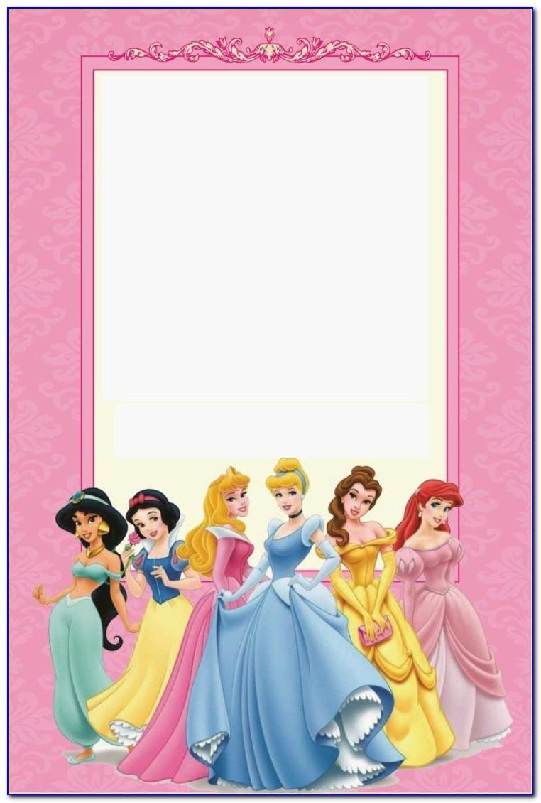 Printable Disney Princess Birthday Invitations