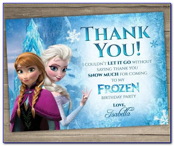 Printable Frozen Birthday Invitation Template