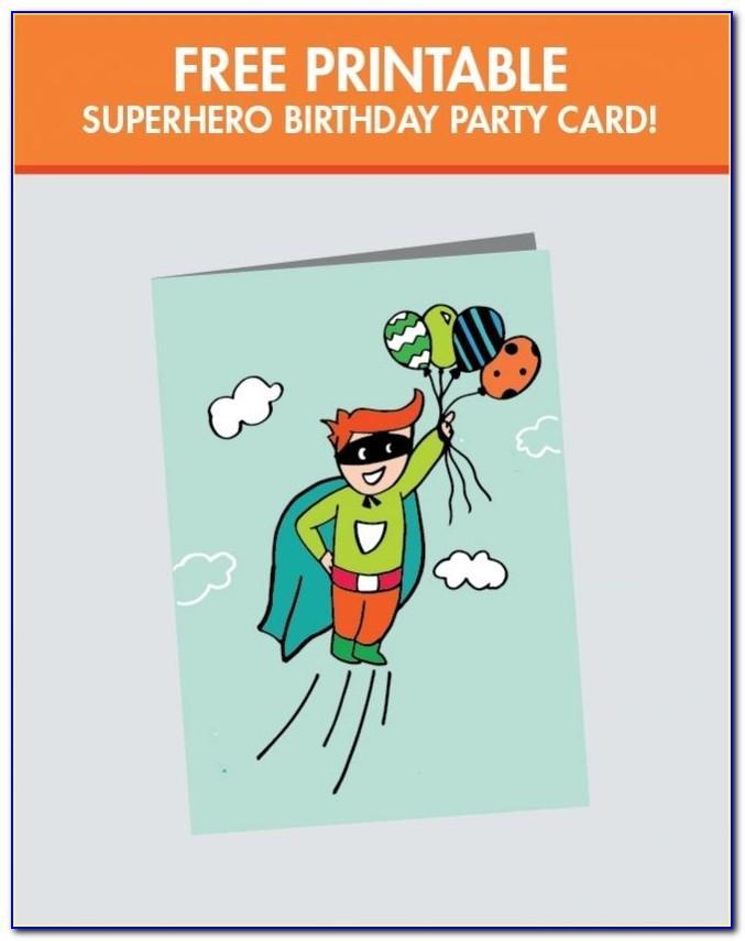 Printable Happy Birthday Card For Boy