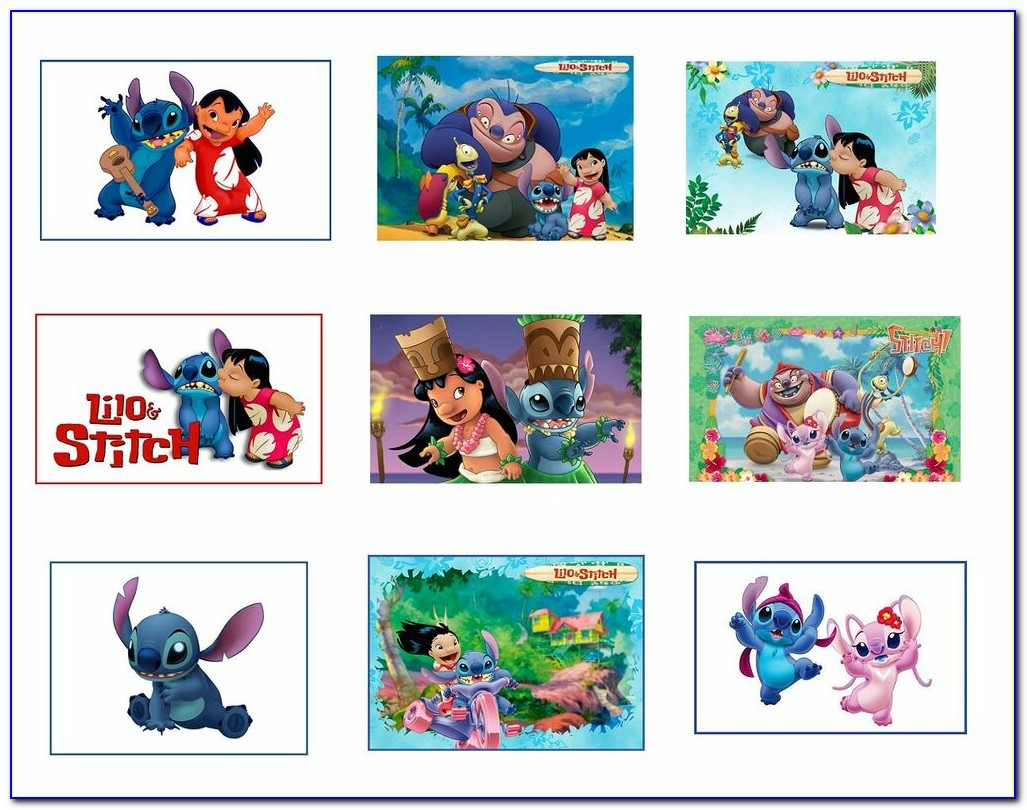Printable Lilo And Stitch Birthday Cards
