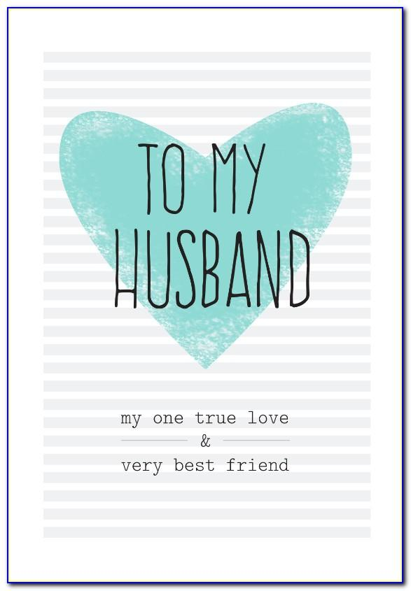 Printable Romantic Birthday Cards For Husband