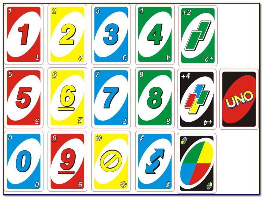 Printable Uno Cards Free