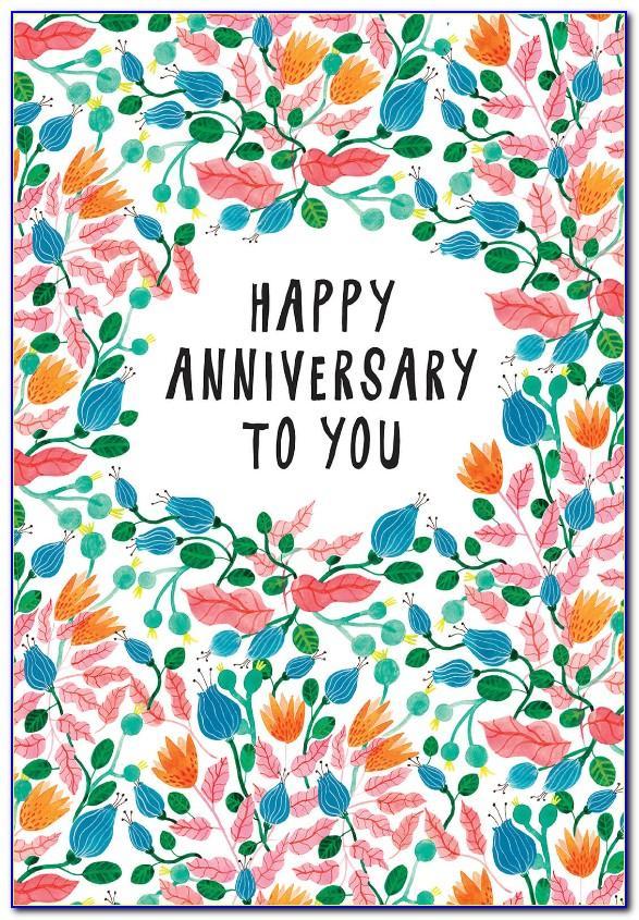 Printable Wedding Anniversary Cards Free Online