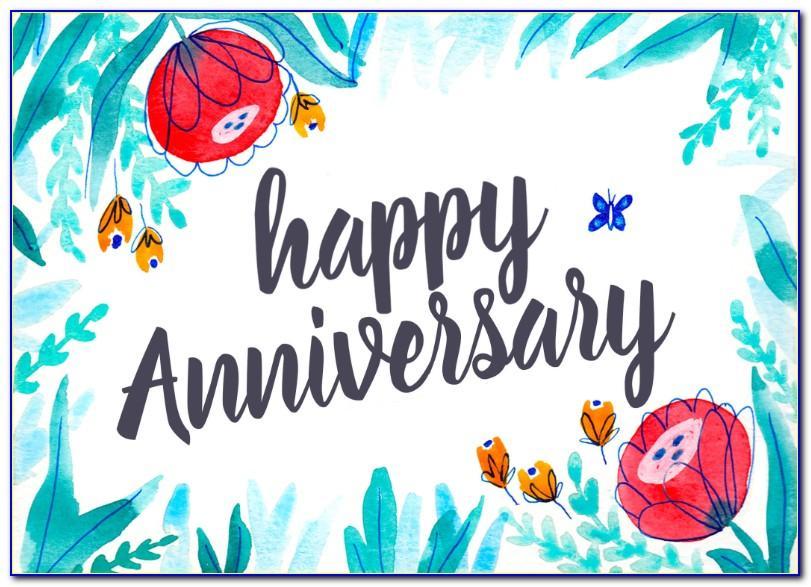 Printable Work Anniversary Cards Free Online