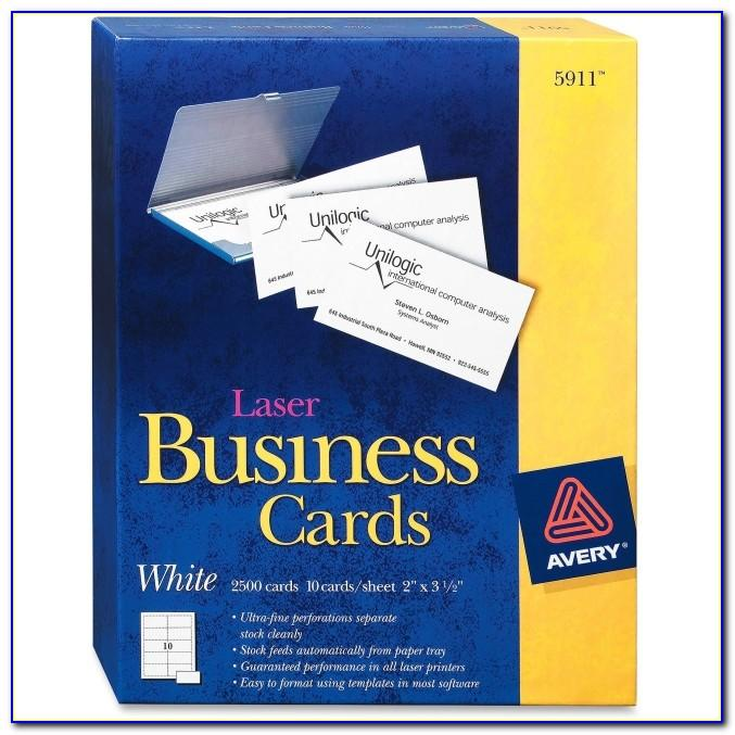 Printing Avery Business Cards In Publisher 2010