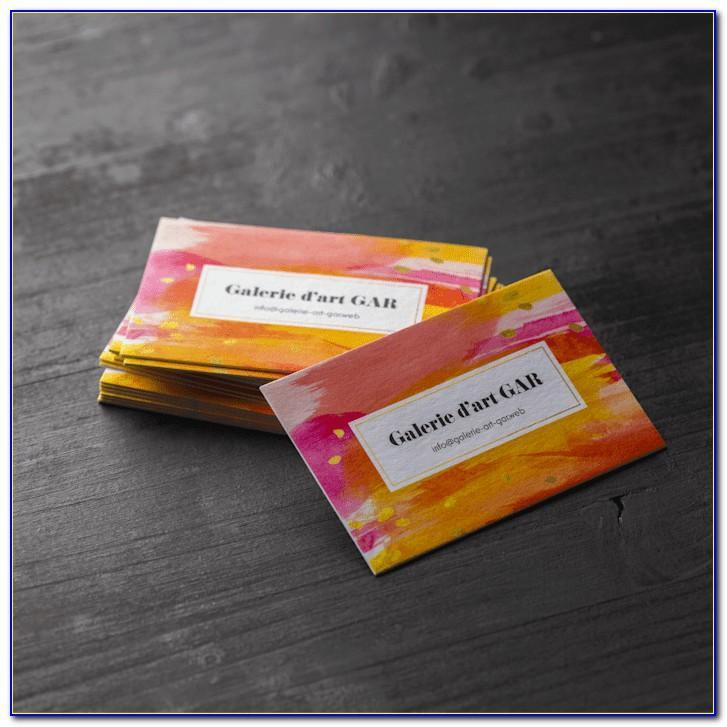 Raised Unicorn Foil Business Cards