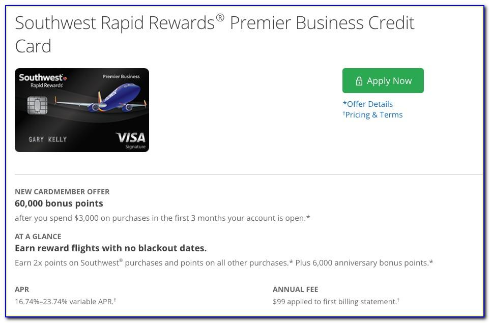 Rapid Rewards Business Credit Card