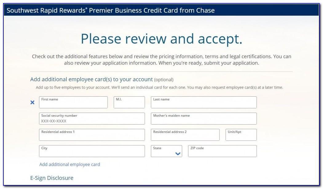 Rapid Rewards Premier Business Card
