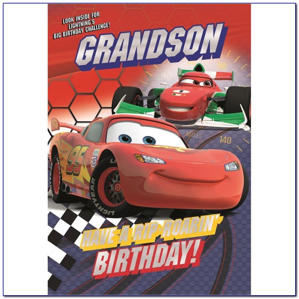 Rayo Mcqueen Birthday Cards