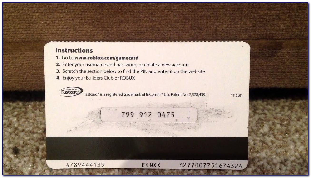 Roblox Card Free Code