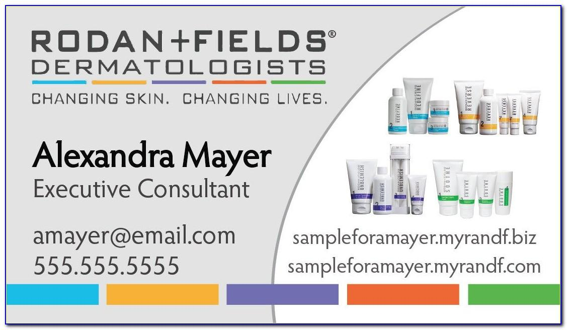 Rodan And Fields Business Cards Digital Download