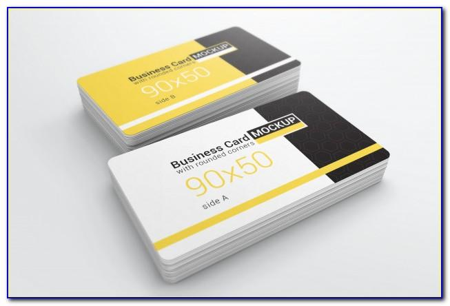 Rounded Corner Business Card Mockup Free