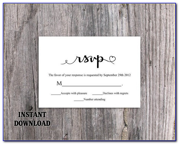 Rsvp Card Template Free Download