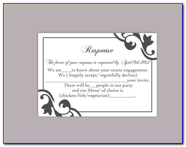 Rustic Rsvp Card Template Free