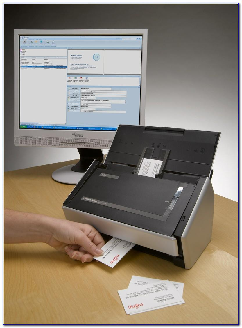 Scansnap Business Card Scanning