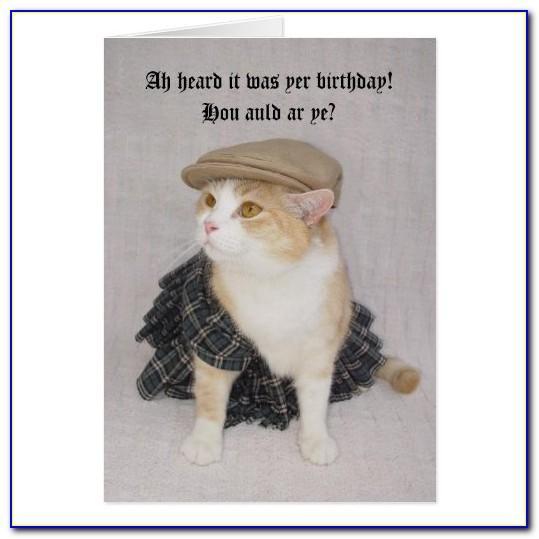 Scottish Birthday Cards Funny